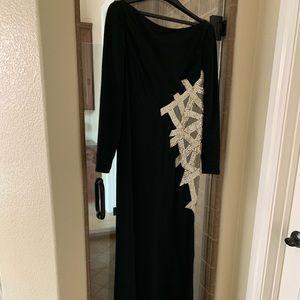 Angel Sanchez Dresses - Angel Sanchez Long Black Evening Gown